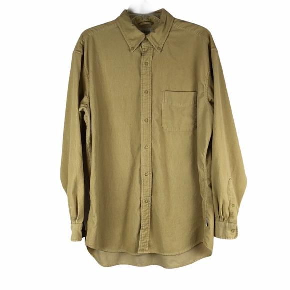 J. Crew Tan Corduroy Button Down Shirt